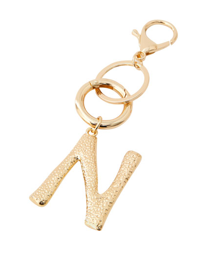 Letter N key ring