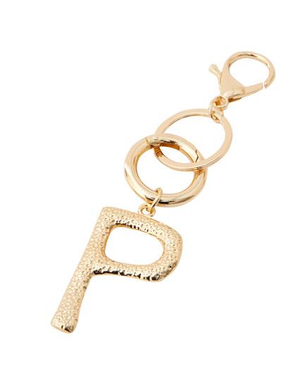 Letter P key ring