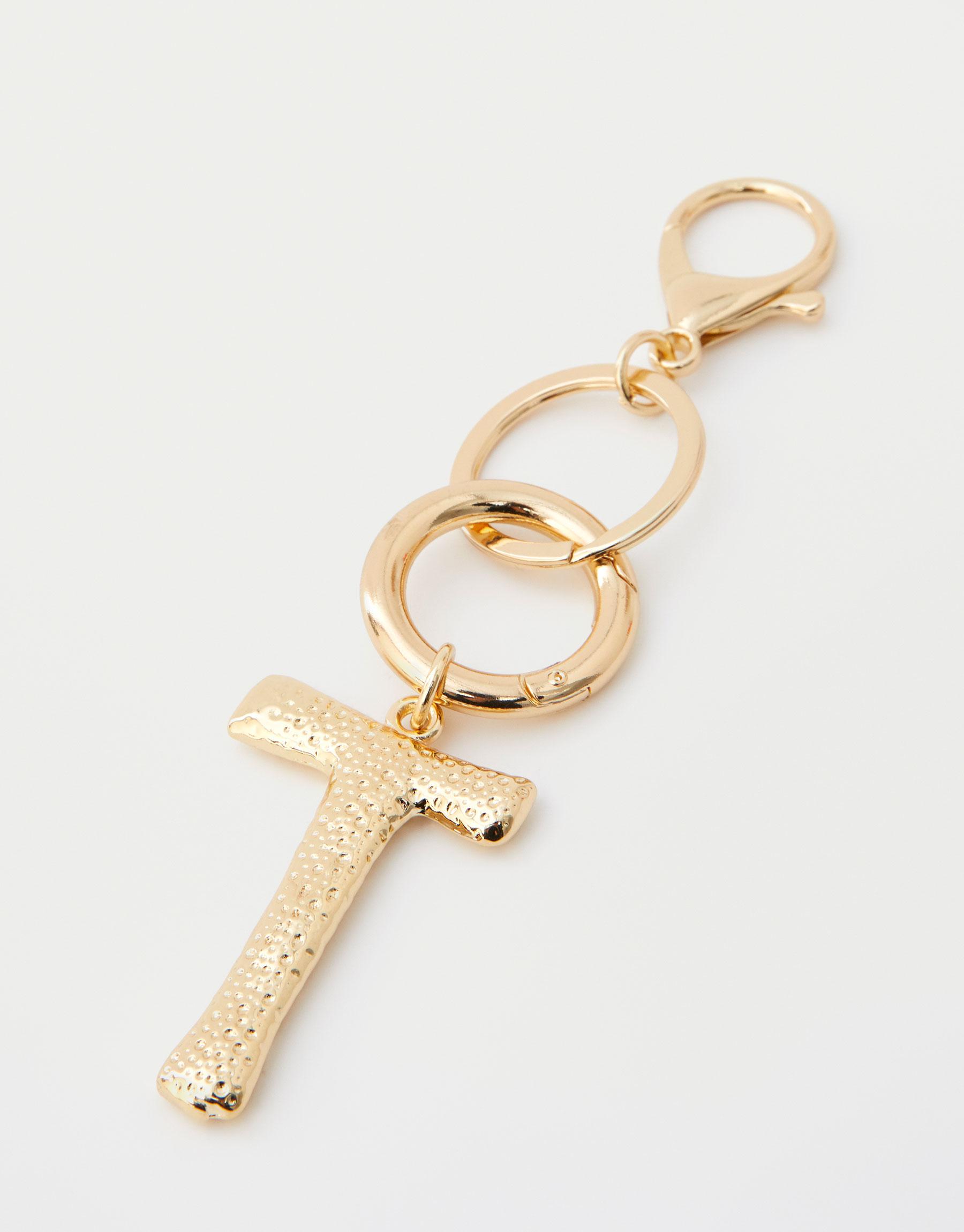 Letter T key ring