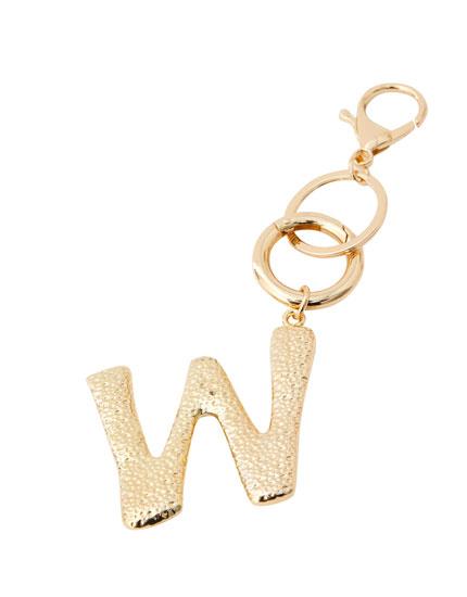 Sleutelhanger met letter W
