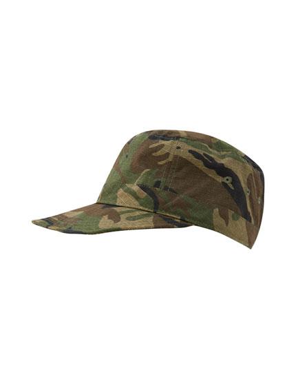 Camouflage print cap