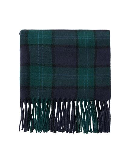 Tartan check scarf