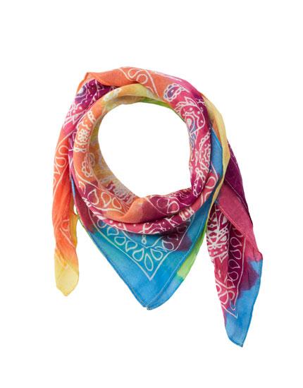Psychedelic tie-dye neckerchief