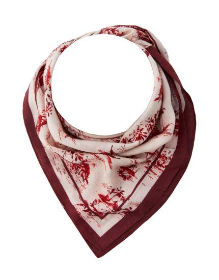 Toile de Jouy scarf
