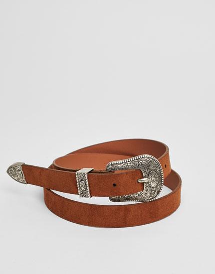 Cinturón básico western
