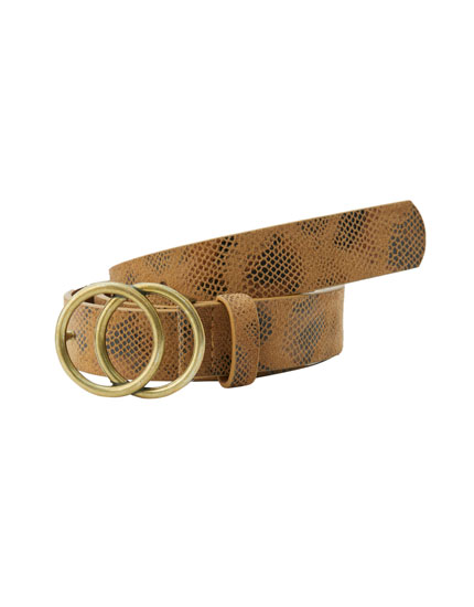 Double-ring buckle belt