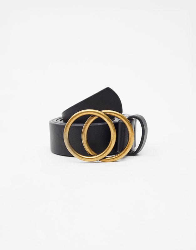 Cintura Fibbia Doppio Cerchio by Pull & Bear