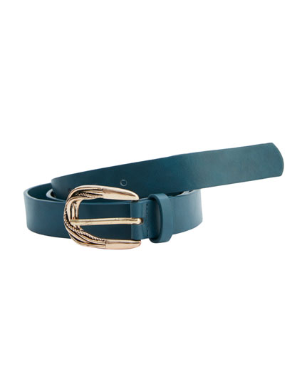 Belt with vintage buckle