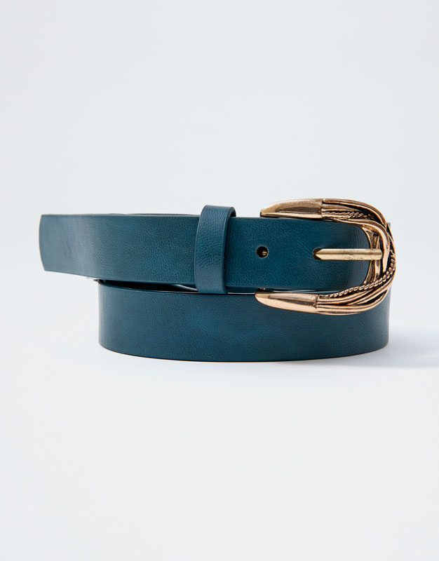 Belt With Vintage Buckle by Pull & Bear