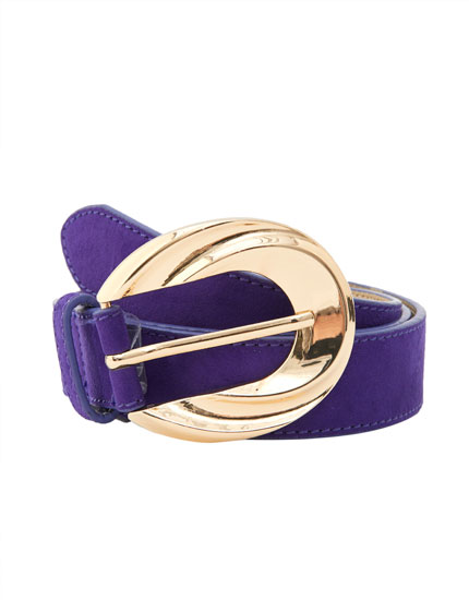 Purple belt with maxi buckle