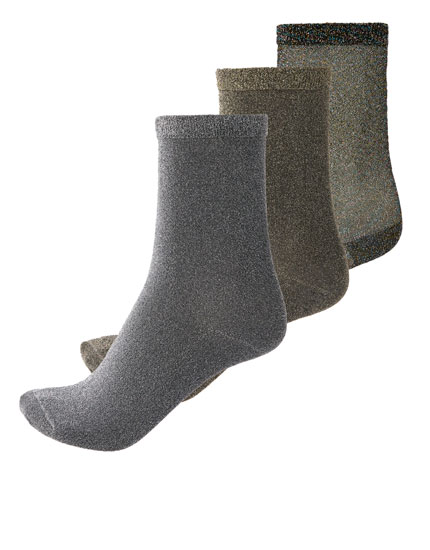 2-pack of metallic socks