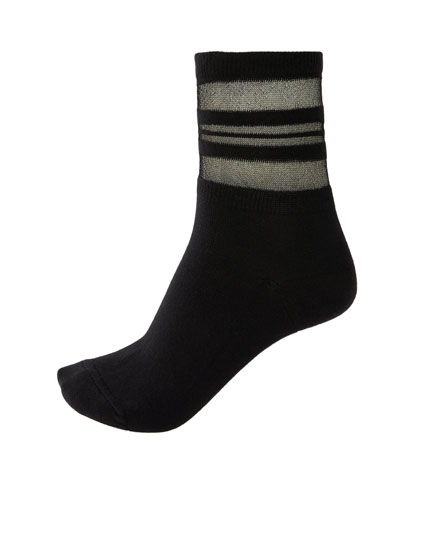 Sportsocken transparent