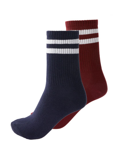 2-pack of striped sports socks