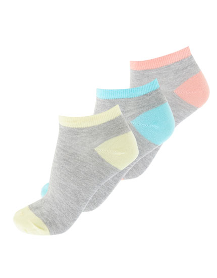 3er-Pack farbige Sneakersocken