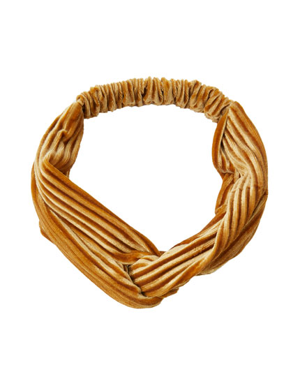 Wide corduroy hair band