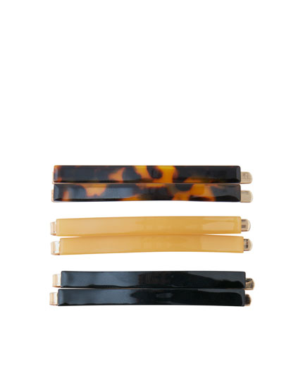 6-pack of resin hair slides