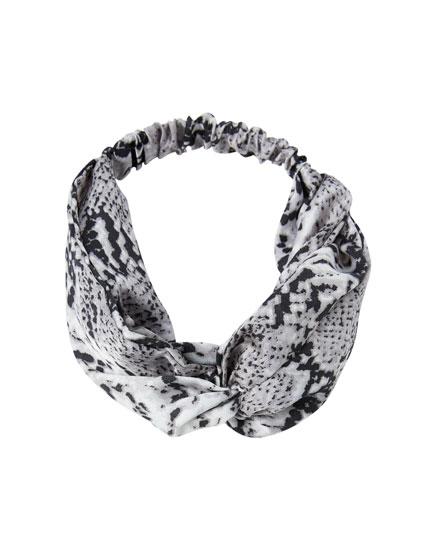 Snakeskin print headband