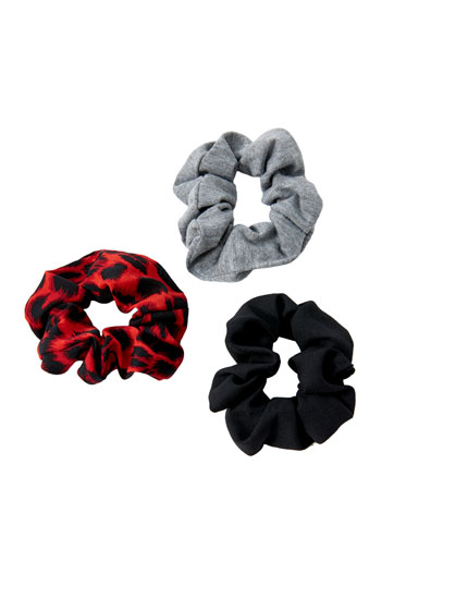 Pack de 3 scrunchies de leopardo