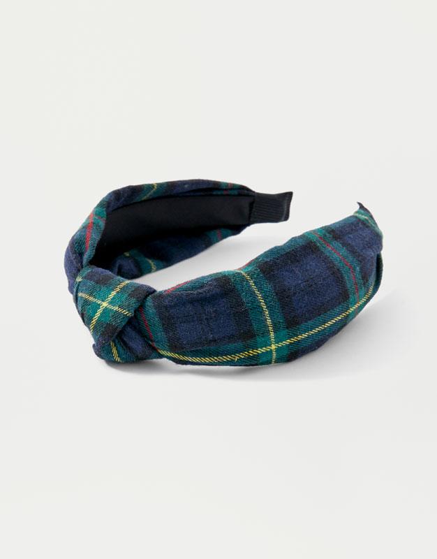 Tartan Check Headband by Pull & Bear