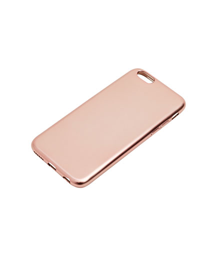 Matte metallic phone case