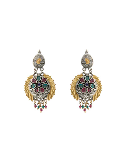 Baroque rhinestone earrings