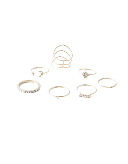 7-pack of star rings