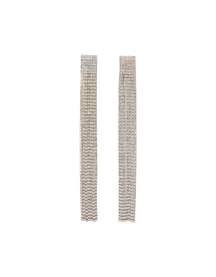 Diamanté cascade earrings