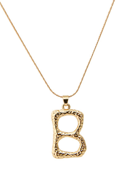 Letter B necklace