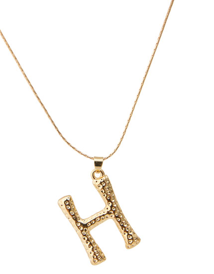 Letter H necklace
