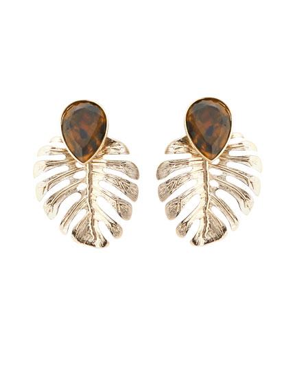 Øreringe med metalblade