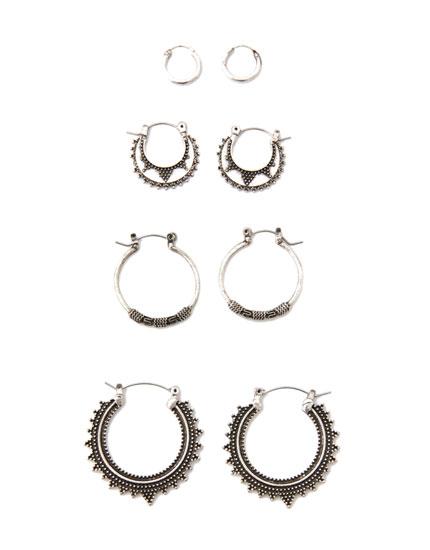 4-pack of geometric earrings