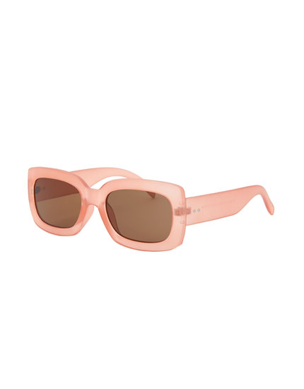 Maxi square pink sunglasses