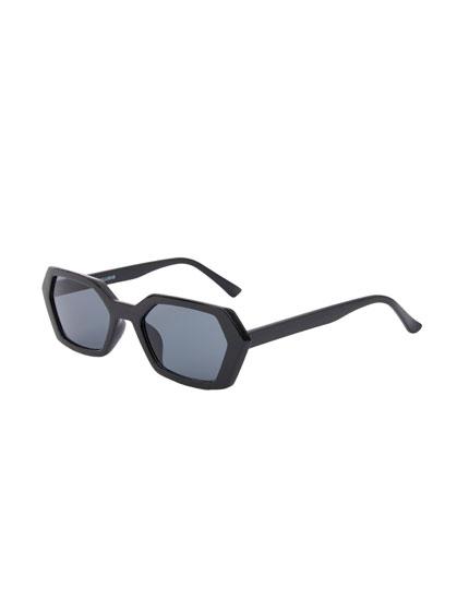 Gafas de sol geométricas negro