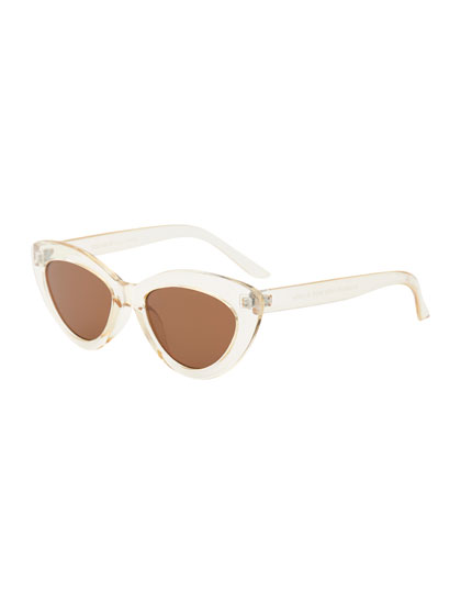 Gafas cat eye transparentes