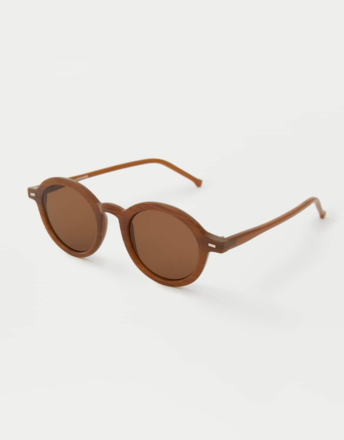 Στρογγυλά γυαλιά ηλίου από ταρταρούγα - PULL BEAR fb57a18d009