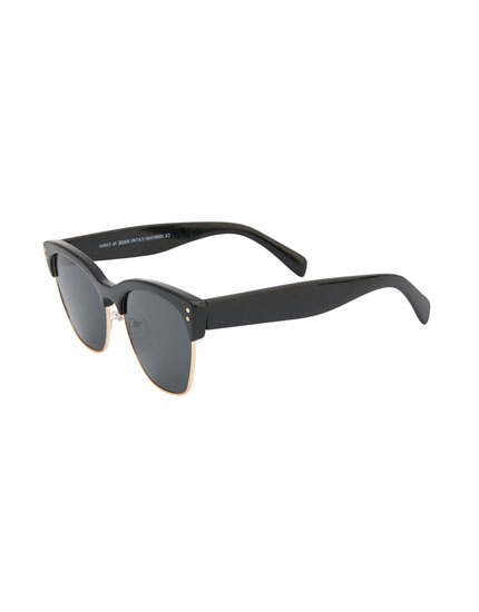 Sunglasses with black temples