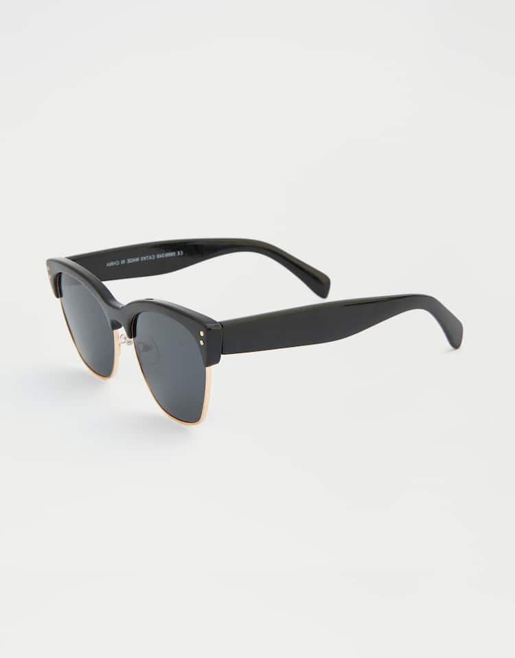 eaa2bac3941f Sunglasses with black temples , GOLD