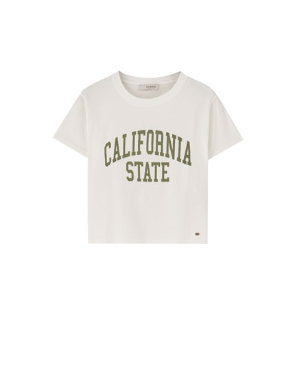 Cropped California T-shirt