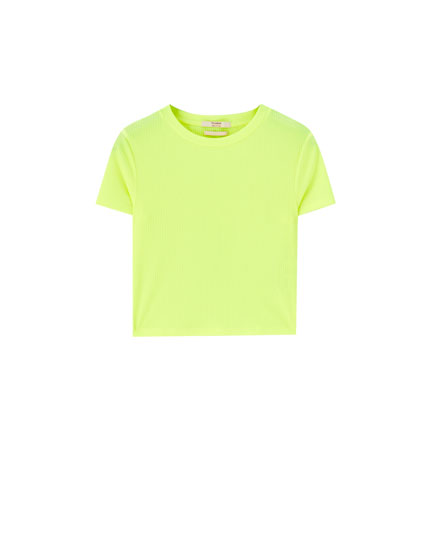 Cropped neon T-shirt