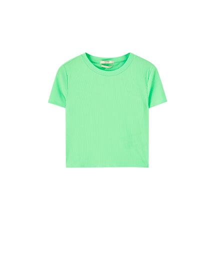 Camiseta cropped flúor