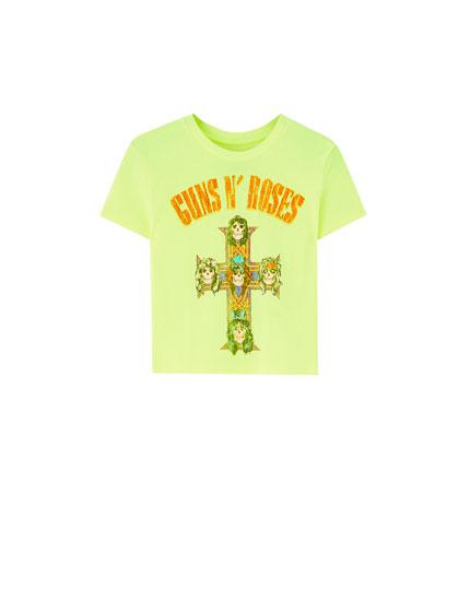 Camiseta flúor Guns N' Roses