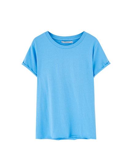 Corta Básica Manga Camiseta Básica Camiseta wqCwI7
