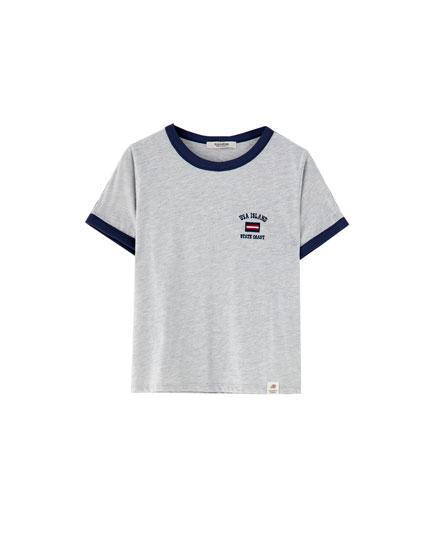 Grey varsity T-shirt