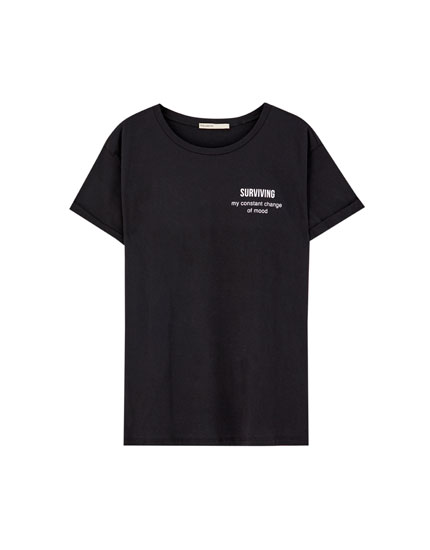 Short sleeve T-shirt with slogans