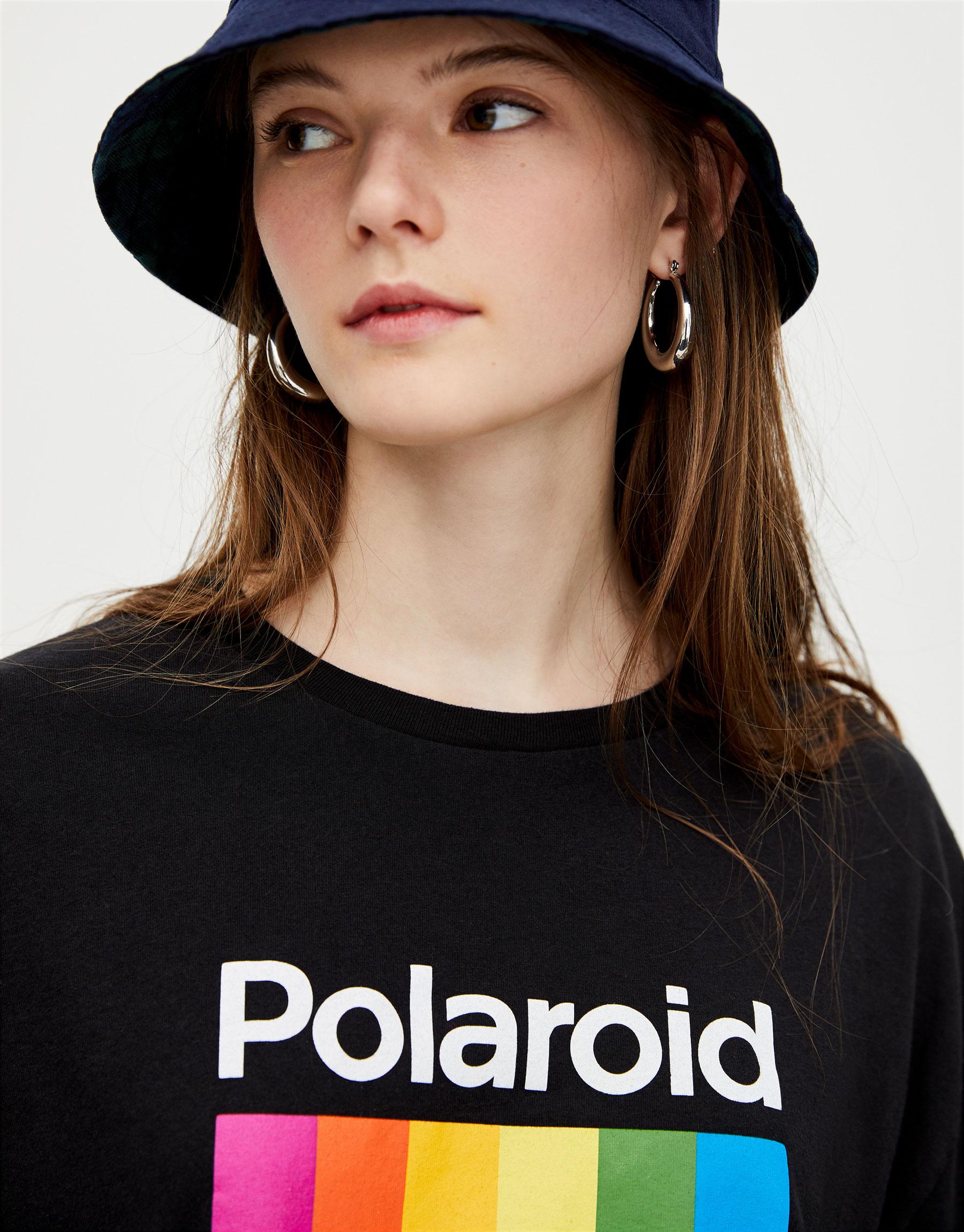 001dbb918 Modalite - Pullbear Polaroid T-shirt with multicolored logo