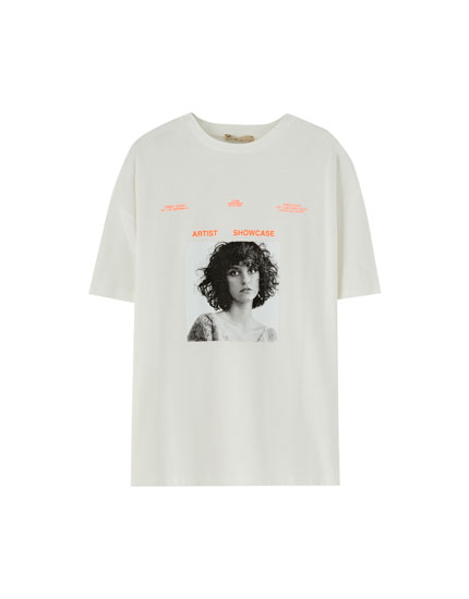 T-shirt with photo of girl