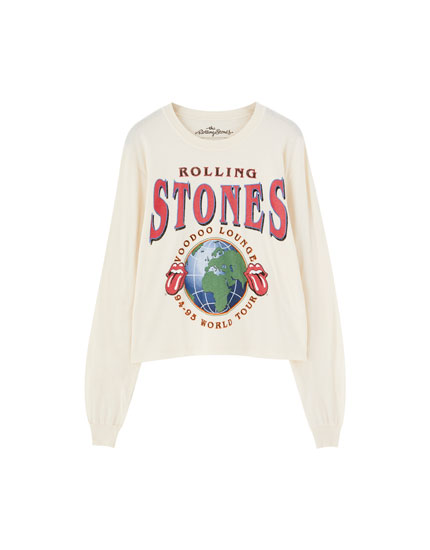 Camiseta The Rolling Stones manga larga