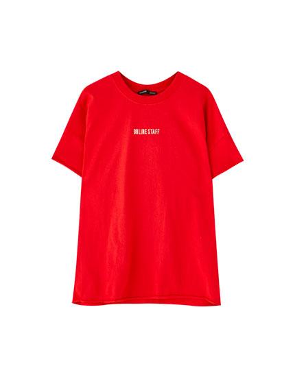 T-shirt Pull&Bear rouge