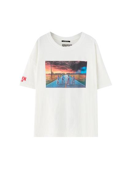 Netflix Stranger Things poster print T-shirt