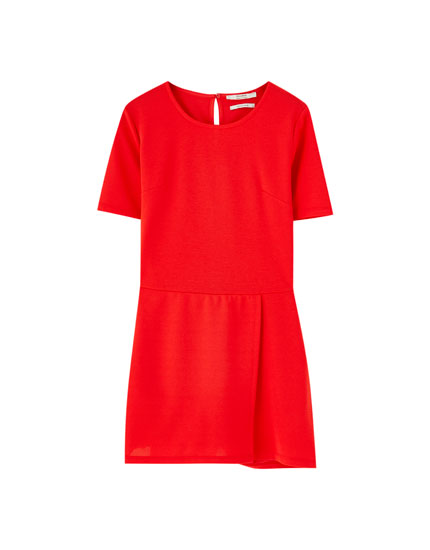 Short sleeve skort dress